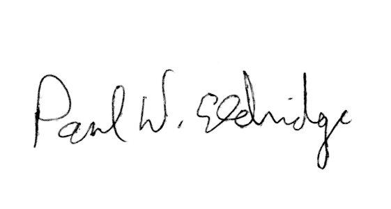 Paul Eldridge signature